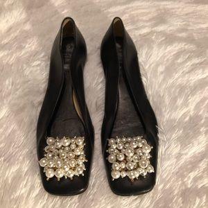 Kate Spade Bauble Toe Leather Flats